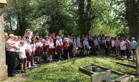Heritage project school visit to St Augustines church